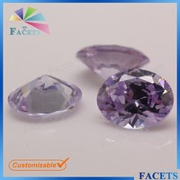 Facets Gems AAA Grade Synthetic Lavender Semi-Precious Stone Egg