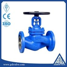 ductile cast iron bellow seal globe valve