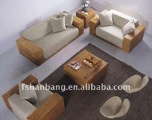 rattan garden corner sofa
