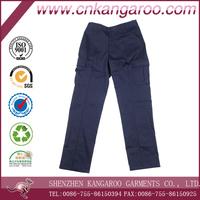 Multi Pockets Polyester Navy Blue Work Pants