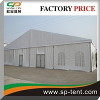 Used clear span frame permanent marquee tent 20mx25m with glass door and luxury linning for weddings parties and Beer Festival