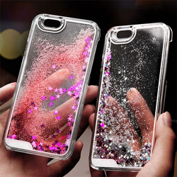 Mobile phone moving glitter flash light case for iphone 5,wholesale tempered glass screen protector