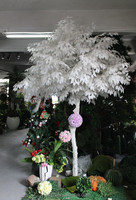 High quantity 2.5m white artificial banyan tree for wedding decorative wooden treeartificial white birch trees banyan tree