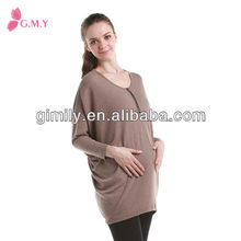 pregnant wear cotton blouses big size long sleeves maternity clothing wholesale fashion clothing for maternity women
