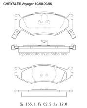 D522 Brake Pad GDB1157 4423812 For CHRYSLER Brake Pad 4423822 For DODGE Brake Pad