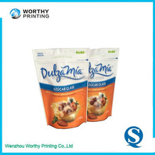 Gravure Printing Surface Handling and Food Industrial Use stand up pouch food bags ziplock standing