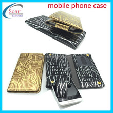 Ultra thin cellphone wallet leather case, universal mobilephone case