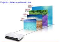 DLNA mini led projector DLNA Miracast AirPlay USB HDMI 1080p 3D movie mini beamer