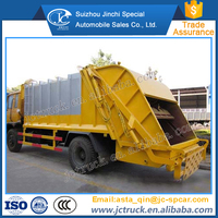 Manual transmission type and new condition 10000L compactor garbage truck price on sale