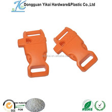 China product plastic insert buckle with whistle,1/2 curved side release whistle buckle