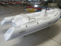 rigid inflatable boats with engines fiberglass hull PVC boat rib420 rib boat