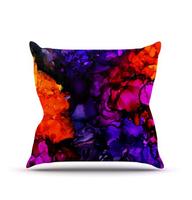 "Decorative Pillows Kess InHouse Claire Day ""Family Photos"" Outdoor Throw Pillow BZ268"