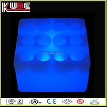 Color changes Led big ice bucket waterproof plastic RGB led square bucket