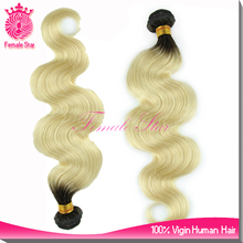 wholesale market 20inch honey blonde human hair extensions/ pure white remy indian hair extensions
