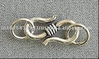 S Hook Sterling Silver Clasps
