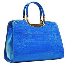 2015 Korean fashion bag/ handbags PU royal blue tote bag (HD25-156)