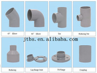 Grey adhesive pvc pipe fittings