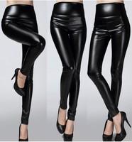 Women Imitation Leather High Waist Sexy Leggings 9075