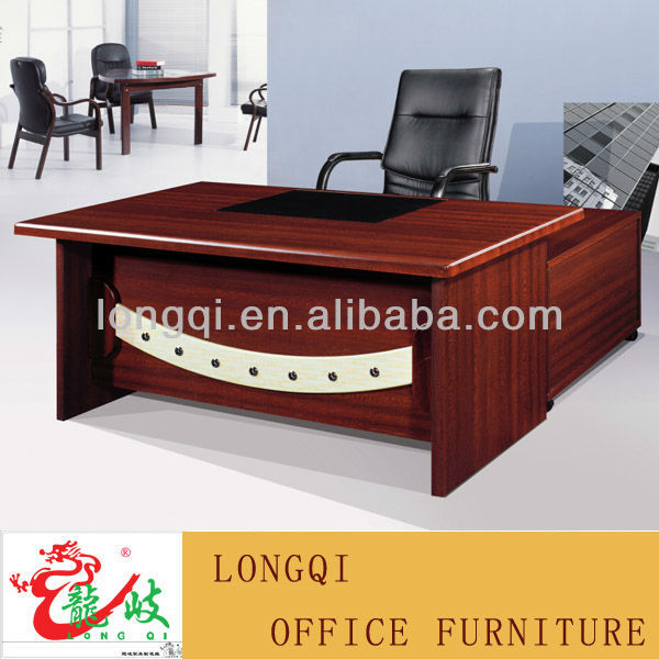 shape modern design with leather table top wooden mdf manager desk
