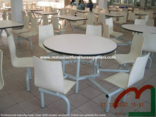 6 Seat Round Canteen Table with Commercial Quality