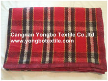 Tartan Blanket made of 100% Recycle Textile Material