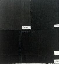 "6.4 oz 62/63"" Cotton Twill Rigid Black Denim Fabric"