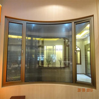 High quality aluminum curved window in Guangzhou factory