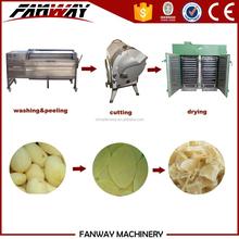 Optional capacity dried potato drying line