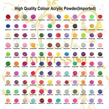 High quality Colour acrylic powder for nail care,120 colors available beautify nails wholesale