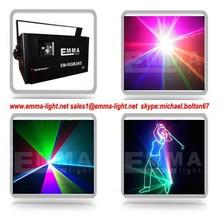 analog modulation laser,a set of 40kpps 2W rgb full color laser lighting and pangolin quick show software,dj laser light show