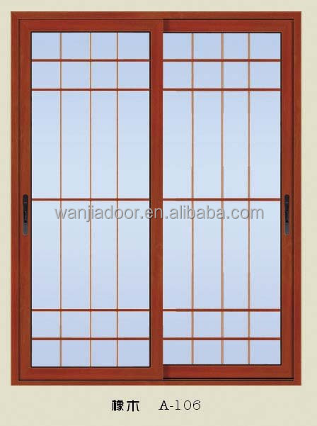 Aluminum frosted glass office partitions sliding door for Office doors with windows