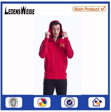 Red high quality rome lycra fabricr latest sweater designs for men with zippe