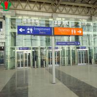 Airport build up aluminum profile acrylic led sign