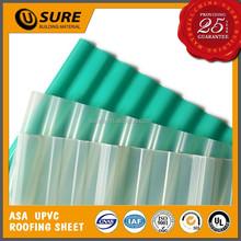 2.0mm bright pvc translucent green agricultural farm market roof tile