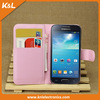 PU Leather Case for Samsung Galaxy S4 mini i9190 with Credit Card Slots & Holder