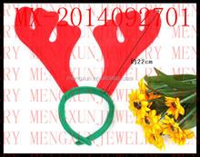 2015 new design Children's Day, Christmas Ornaments Children Dress Feather Antlers Hoop Hair Hoop