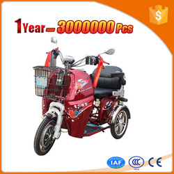 novel taxi e trike with colorful body