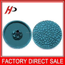 High end upscale printed zinc alloy metal snap button for woman coat