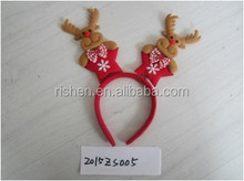 factory direct sale christmas deer antler head band, popular kids holiday hair ornament