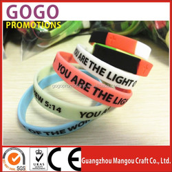 Factory bulk cheap silicone bracelet no minimum order custom silicone wristband,New product Mini bands from china supplier