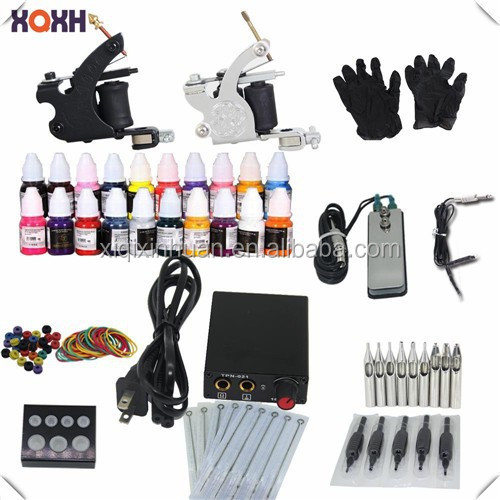 2015 top selling professional cheap complete tattoo kits for Tattoo gun kits for sale