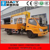 T-KING 4*2 mini cargo truck,telescopic booms truck mounted crane ZB5080 for sale