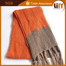 custom heating long weaving knitted scarf 2015