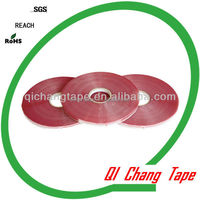 Acrylic adhesive tape for poly bags with red line printing china direct manufacturer