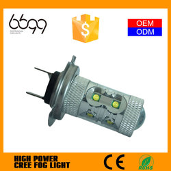 2015 all in one led car foglight h7 crees 50w 5000lm
