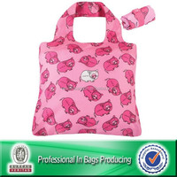Portable Waterproof reusable 190t reusable shopping bag