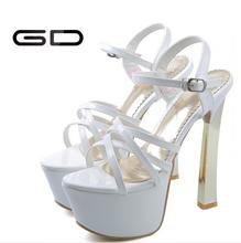 Sexy mature women high heel sandals black white red 2015