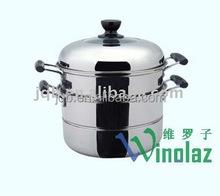 2-layer stainless steel energy-saving food steamer