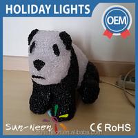 LED 3D acrylic Cute panda motif lights