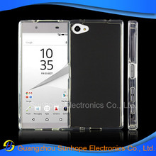 New Products clear Transparent tpu cell phone case for Xperia Z5 mini , Z5 Compact cover